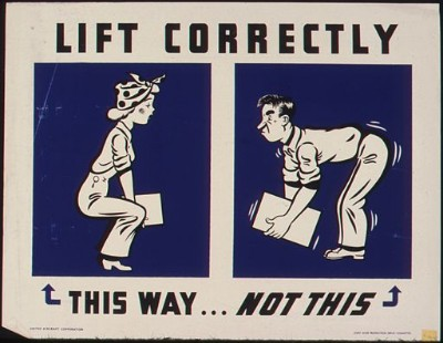 old fashioned lifting advice